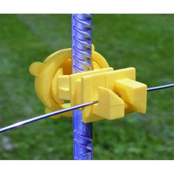 Zareba IRY-Z Screw-On Red Post Insulator, Yellow