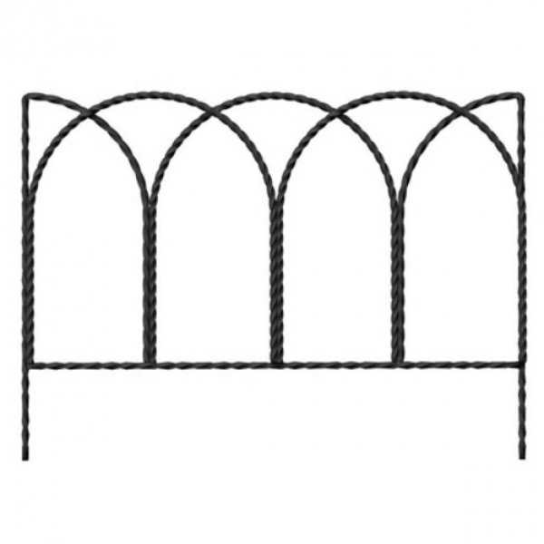 Panacea 89362 Rustic Farmhouse Twisted Wire Border Edge, 14' x 20'
