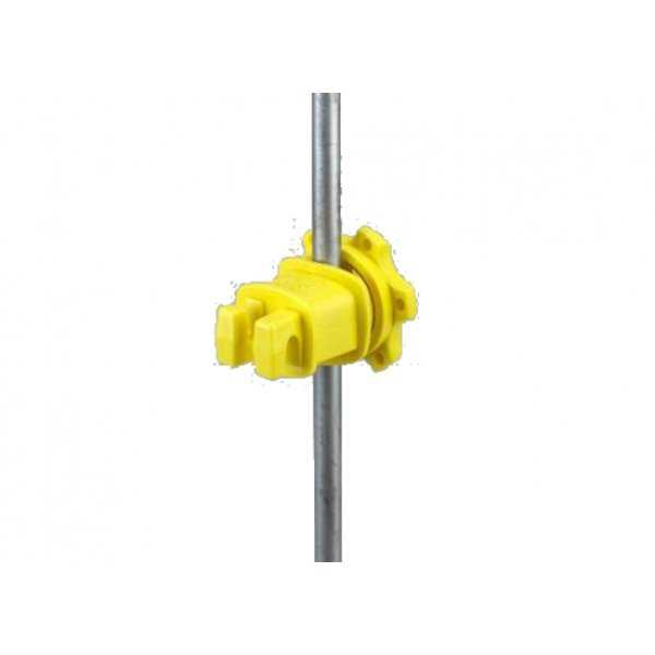 Dare WESTERN-RP-25 Western Screw Tight Round Post Insulator, Yellow, 25-Pack