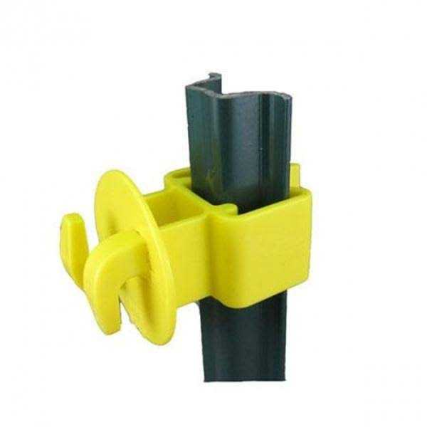 Dare SNUG-LGU-25 Garden Electric Fence U-Post Insulator, Yellow, 25-Pack