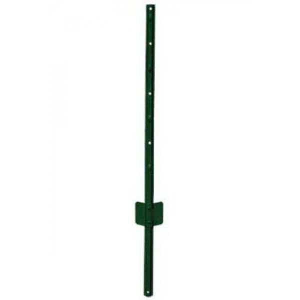 YardGard 901153A Light-Duty 'U' Style Steel Fence Post, Green, 14-Gauge, 3'